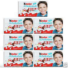 Ferrero Kinder Chocolate Bars - Original German Happy Kid Sweets - Set 7x100g