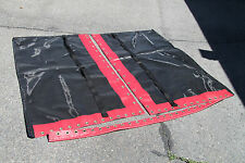 Hobie Cat 17  Trampoline New Black Mesh with Pocket And Red Tough Wrap