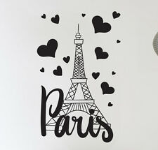 PARIS Francia Torre Eiffel Amore Muro Arte Decalcomania Decor Vinyl Sticker Murale
