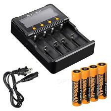 Fenix ARE-C2 Plus 4-Channel Charger w/ 4x Fenix 3500mAh 18650 for TK75 TK51 PD35