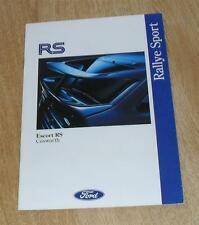 Ford Escort RS Cosworth Full 16 Page Brochure 1992 - Standard Luxury Motorsport
