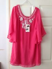 Christmas Present Coral Pink Red Dress Tunic Beach Kaftan With Beads Sequins 12
