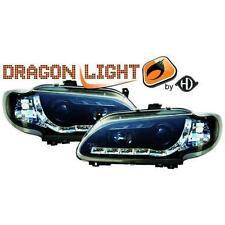 Par de faros luces delanteros TUNING RENAULT MEGANE 96-99 negros, con Dayline a