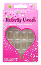 PERFECT GIRL FALSE NAIL TIP FRENCH CAPPUCCINO NAILS COFFE BEIGE SHORT TIPS