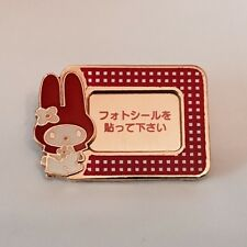 VINTAGE SANRIO HELLO KITTY MY MELODY BROOCH PIN PHOTO FRAME KAWAII JAPAN ONLY
