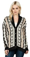2015 NWT WOMENS VOLCOM PARK IT CARDIGAN SWEATER $70 S frozen bone relaxed fit