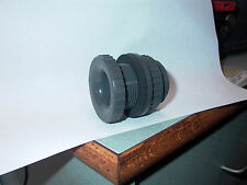 "GRAY PLASTIC 1"" THROUGH WALL OUTLET  FITTING 3/4"" N P T"