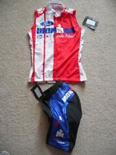 NEW Custom SUGOI Cycling JERSEY & SHORTS Lake Placid USA Ironman Wmns XS / SM