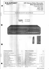 Blaupunkt  Original Service Manual für Video RTV 330  ACT-100