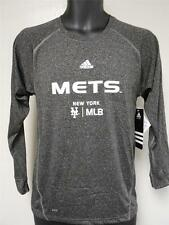 NEW NEW YORK METS ADIDAS CLIMALITE COMPRESSION SHIRT YOUTH MEDIUM 10/12 17RP