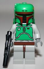 LeGo Star Wars Boba Fett Light Bluish Gray Minifig w/ Black Blaster NEW