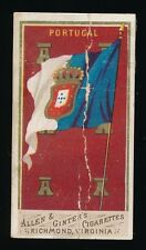 1887 N9 Allen & Ginter Cigarettes FLAGS OF ALL NATIONS -Portugal *Popular Set*