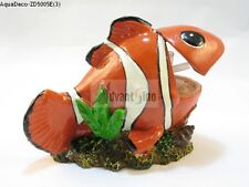 Orange Clown fish Bubble maker Decoration/Ornament For Fish Tank (SHIP FROM USA)