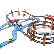 Electric Train Set For Kids 3rd Floor Rolling Rail RoadWay Deluxe Scale 182pcs