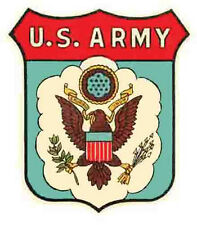 US Army      Vintage 1950's-Style  Travel Decal/Sticker