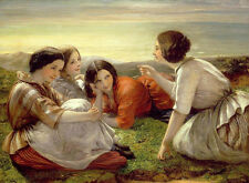 Wholesale oil painting beautiful young girls - Storytelling in landscape canvas