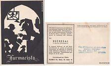 # SILHOUETTES - 1942  FARMACISTA CART. PER PUBBLICITA' ZILLIKEN & CO - GENOVA