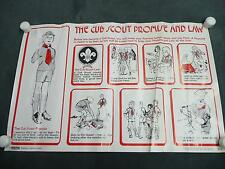 Scouting Magazine Training Chart Poster The Cub Scout Promise and Law boy scouts