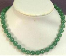 Natural 10MM Green Aventurine Round Beads Gemstone Necklace 18''