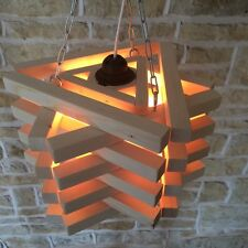 WOODEN CEILING LIGHT STAR TRIANGLE MODERN DESIGNER STYLISH HANDMADE WOOD STACK