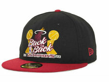 Miami Heat New Era 59FIFTY 2012 & 2013 NBA Champions Fitted Cap Hat - Size: 8