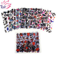Top Nail 24 Sheets 3D Halloween Nail Art Plastic Transfer Decal Sticker Manicure
