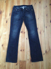 TRUE RELIGION LADIES BILLY BIG T BLACK DENIM JEANS W29 L33