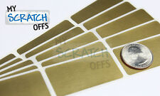 "Scratch off sticker 100 Gold Rectangle 1 x 2"" scratch-off label (25.4 x 50.8mm)"