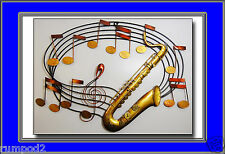 Music Poster/Print/Jazz /17x22 inch/Saxophone Musical Notes/Illustrated