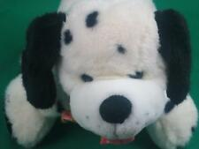 BLACK WHITE WALMART SPOTTED PUPPY DOG DOMINATION SPRING COLOR BOW  PLUSH STUFFED