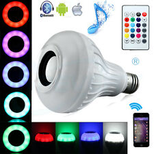 E27 LED RGB Bluetooth Speaker Light Wireless Music Remote Control Playing Lamp