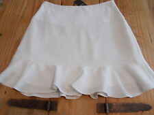 bnwt size 10 lined knee length fishtail pretty ivory skirt RRP £16
