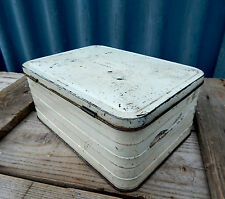 Vintage Retro 1950s Metal Sandwich Box Tin For Picnic Basket - Very Shabby #3
