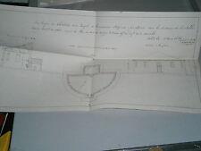 Plan 1896 pour l'élévation d'un temple de communion réformée Courcelle Moselle