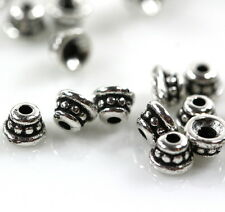 TierraCast~Silver PlatePewter~ Tiny 4mm. Beaded Bead Caps~ 10 Pieces 9912