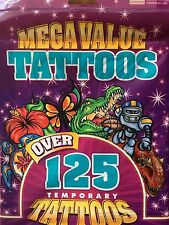 Temporary Tattoos Fun For Kids - Over 125 Mega Value Tattoos