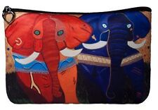 Elephants Cosmetic Bag by Salvador Kitti - Support Wildlife Conservation, Read
