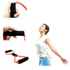 New Orange Sport Fitness Yoga 8 Shape Pull Rope Tube Equipment Tool Gym Trainers