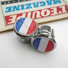 Vintage Style French Flag Racing Bar Plugs, Caps