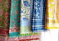 10Pcs. Pareos SexyBeach Wear Hand Block Print Pareo Sarong Floral 100% Cotton