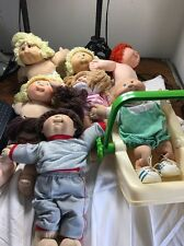 Vintage Cabbage Patch Doll Lot of 7 with Clothes etc.