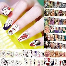 12 sheets sexy water transfer nail art decoration sticker decal Marilyn Monroe A
