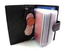 Nouvelle qualité premium soft cuir noir carte de crédit titulaire portefeuille boxed Primehide