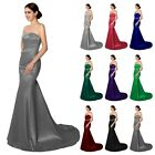 Women Mermaid Long Formal Evening Prom Gown Plus Size Bridesmaid Wedding Dresses