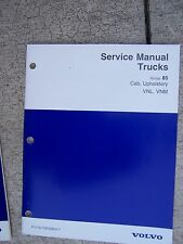 1997 Volvo Truck Service Manual Cab Upholstery VNL VNM  MORE MANUALS IN STORE  T