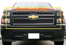 FOR 2014 15 Chevy Silverado 1500 Black Wire Mesh Rivet Grille Grill Insert