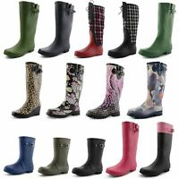 Ladies Womens Wellington Boots Fashion Festival Girls Waterproof Wellies Size