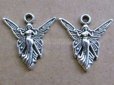 10pc Retro Tibetan Silver Charms Angel Accessories Findings Wholesale B0106PF
