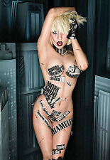 LADY Gaga-famosa Pop Star-Sexy poster artistico a3 stampa
