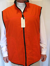 PRESWICK & MOORE Orange / Gray Reversable Vest Size XXL , NWT